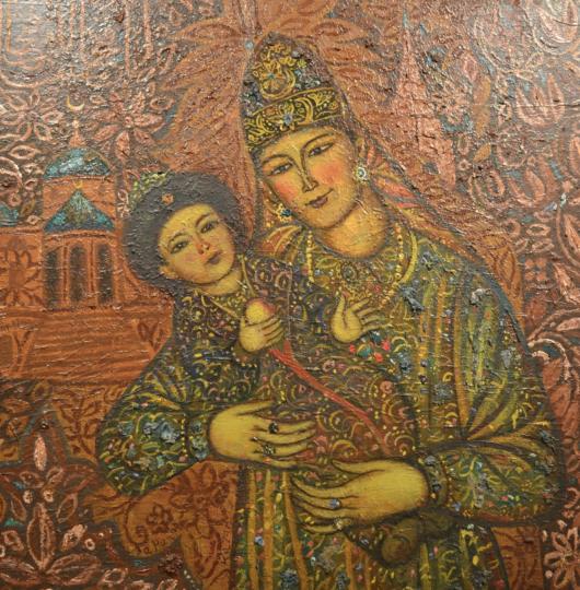 Ильдар Зарипов «Сююмбике с сыном Утямыш-Гиреем», 1990