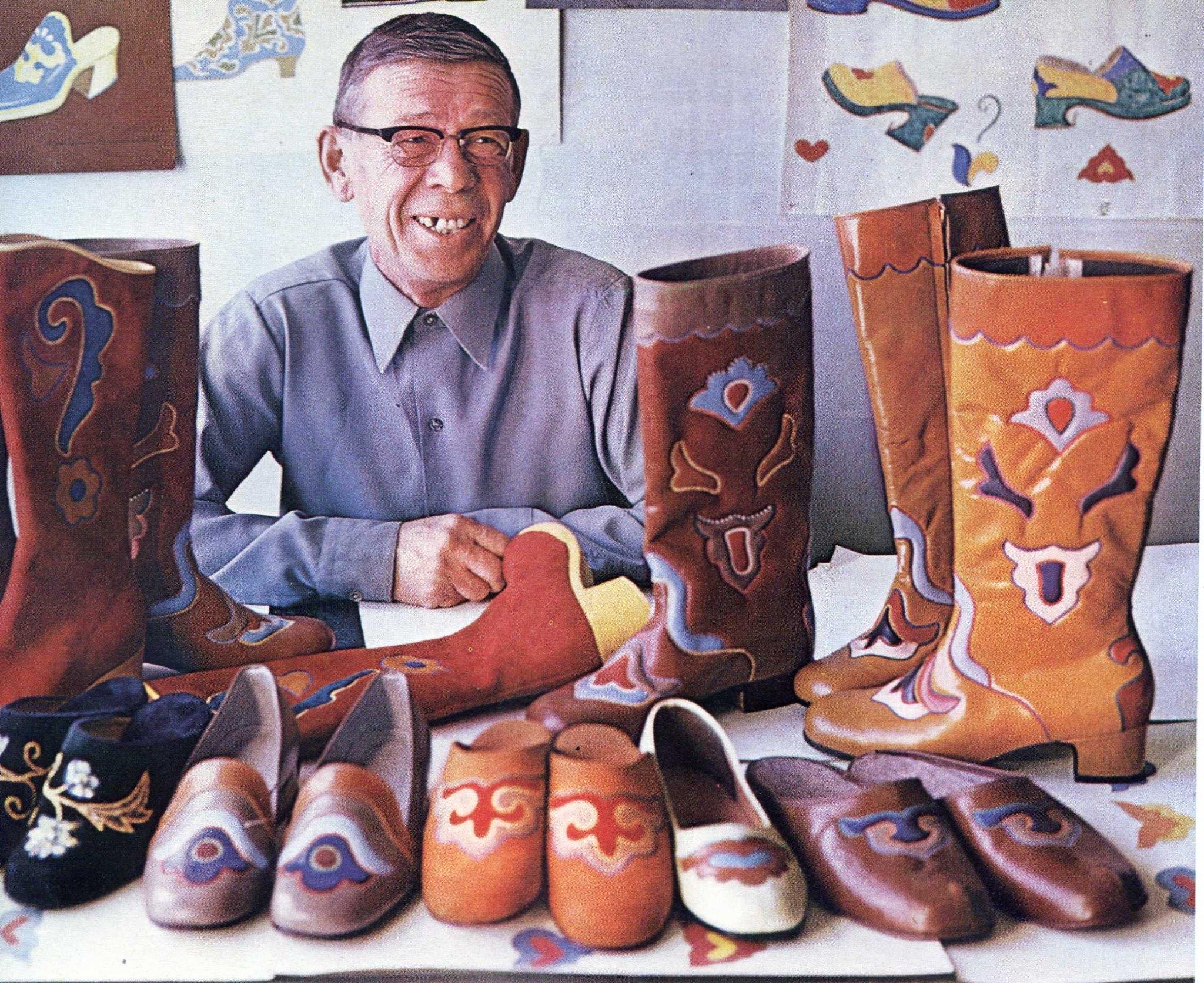 Татарская национальная обувь, 1970-е годы. Фото Рустама Мухаметзянова