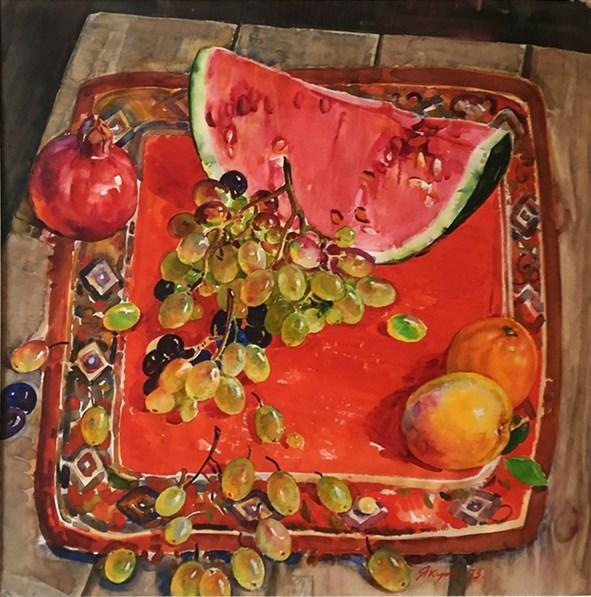 """Харис Якупов. """"Арбуз, виноград, фрукты"""" (1973)"""