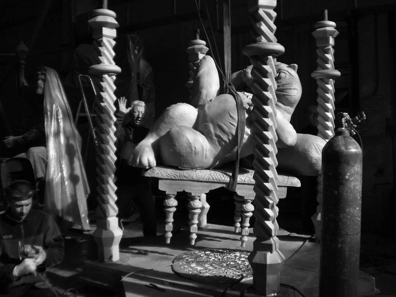 Создание Кота Казанского. Фото: Мастерская «ИРЭК» / https://irek.ru