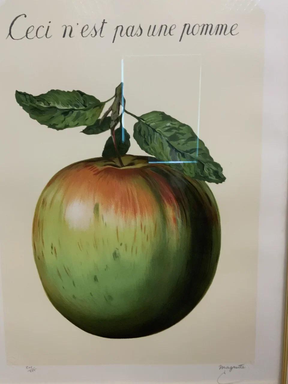 Рене Магритт «Это не яблоко» (1964)