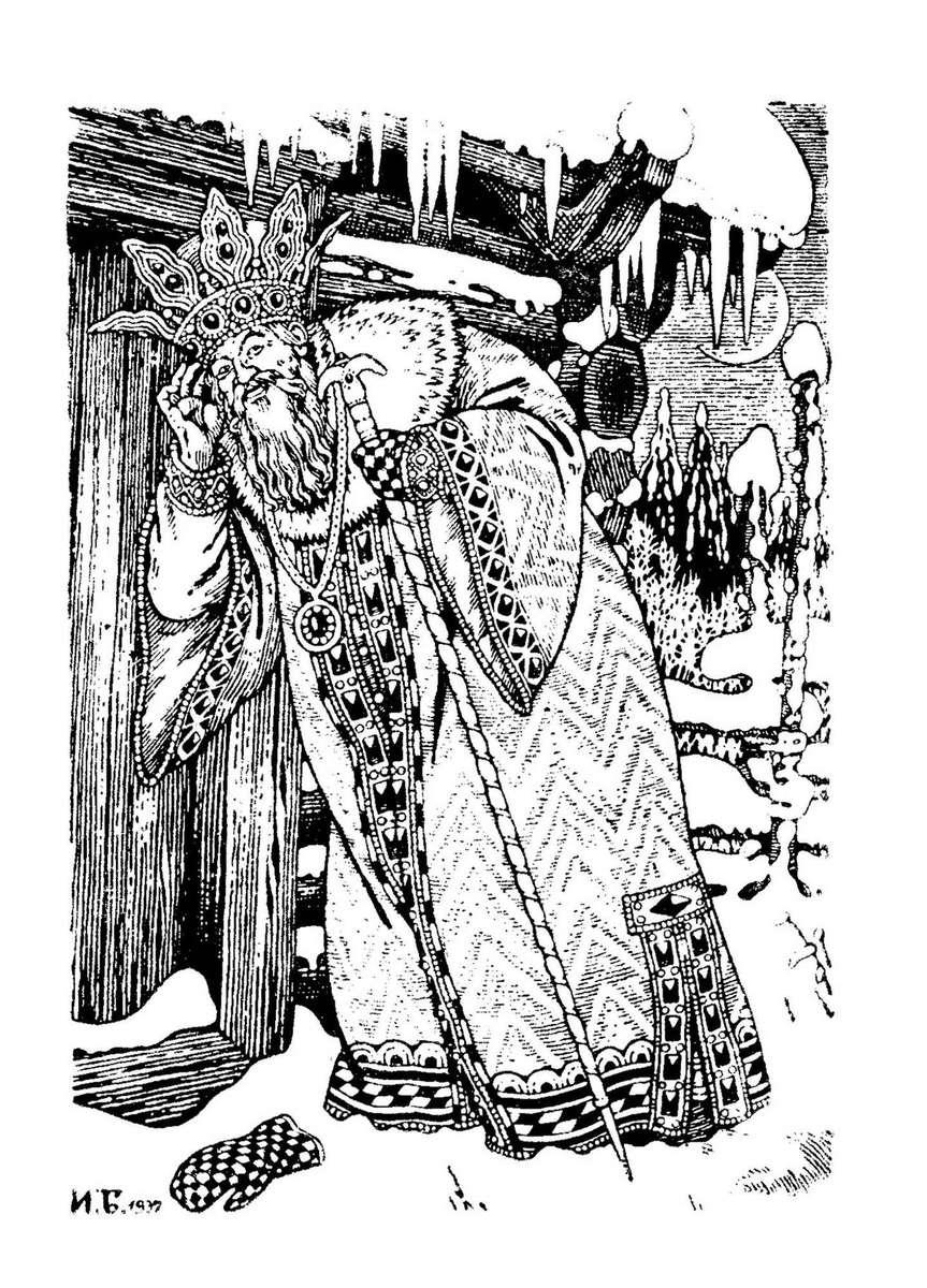 А.С. Пушкин «Сказка о Царе Салтане»,  рис. И. Билибина / www.barius.ru
