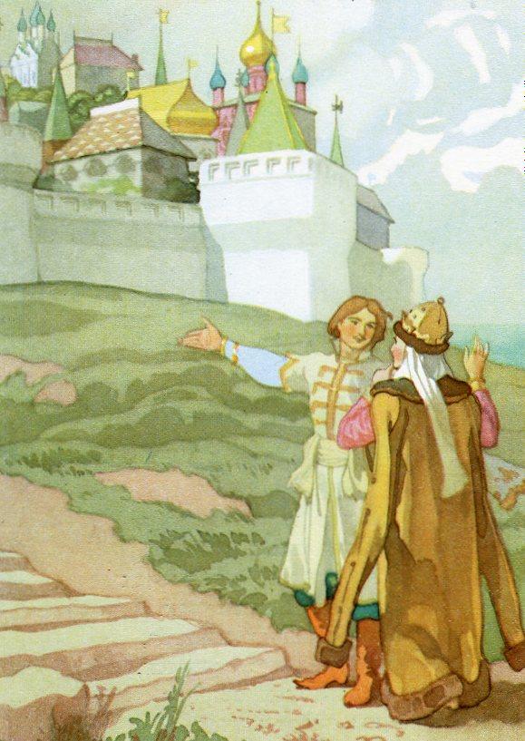 А.С. Пушкин «Сказка о Царе Салтане»,  рис. Б. Дехтерева / shaltay0boltay.livejournal.com