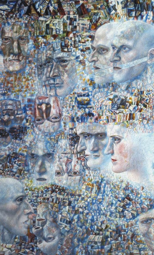 Павел Филонов «Первая симфония Шостаковича» 1935 год