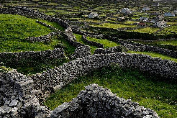 Изгороди на острове Инишмор - самом большом их Аланских островов. Фото из https://macos.livejournal.com/1338400.html
