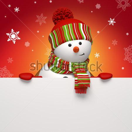 stock-photo-snowman-message-board-116960227