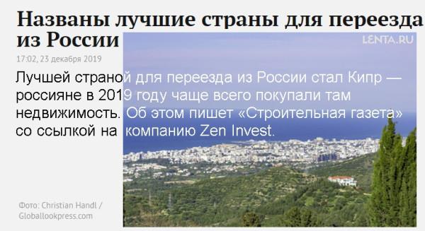 Кипр в рейтине лучший