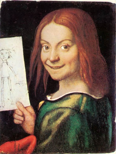 Caroto, Giovanni Francesco, Red-headed Youth, Holding a Drawing