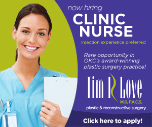 clinic nurse at dr tim r love plastic surgery in oklahoma city