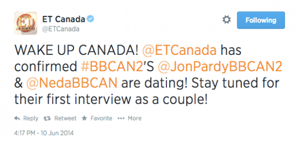 jon and neda dating interview