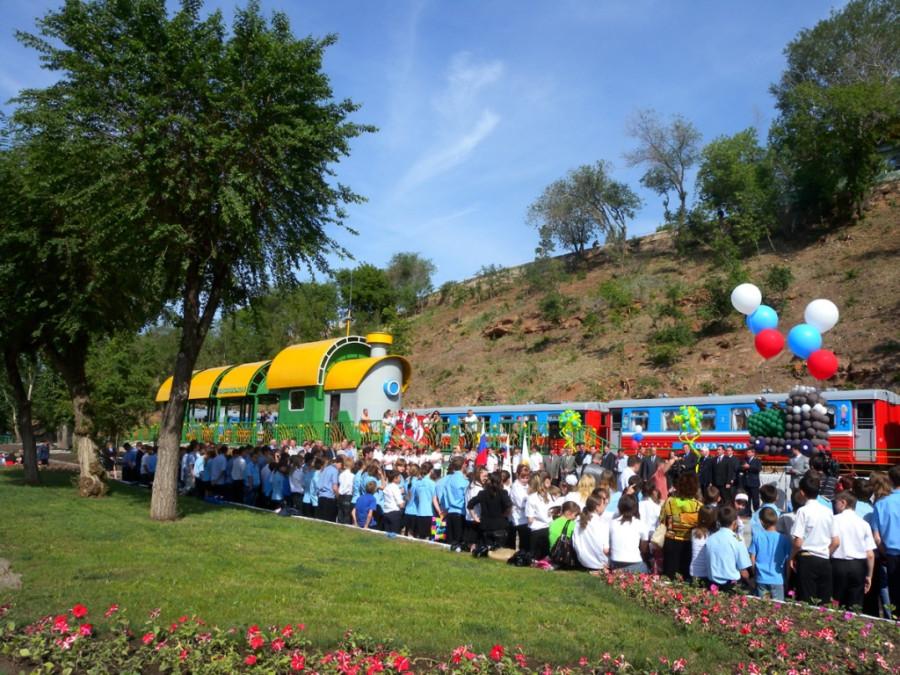 Церемония открытия 57-го сезона на ОДЖД, ст.Комсомольская 2010