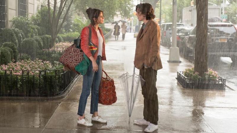 """Кадр из фильма """"Дождливый день в """"Нью-Йорке"""" (режиссёр Вуди Аллен, США, 2019)."""
