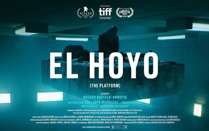 """Постер к фильму """"Платформа"""" (режиссёр Гальдер Гастелу-Уррутия, Испания, 2019)."""
