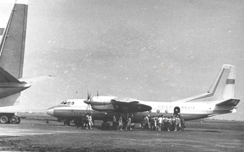 конец 1960-х ан-24 в Саратове.jpg