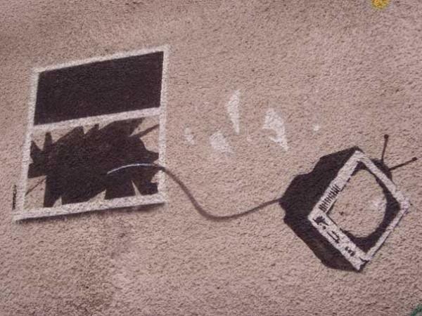 Телевизор выброшенный из окна