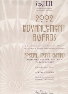 2002 Advancement Awards, Special Merit Award, CASE III