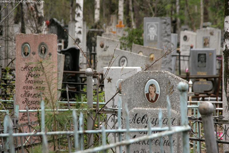 На хабаровское кладбище могилы
