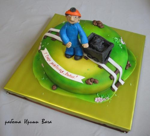 торт для шахтера из мастики фото воздухе свежесть легкость