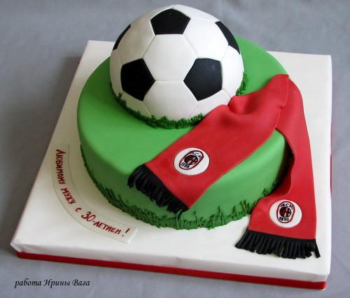 Торт футбольный клуб милан