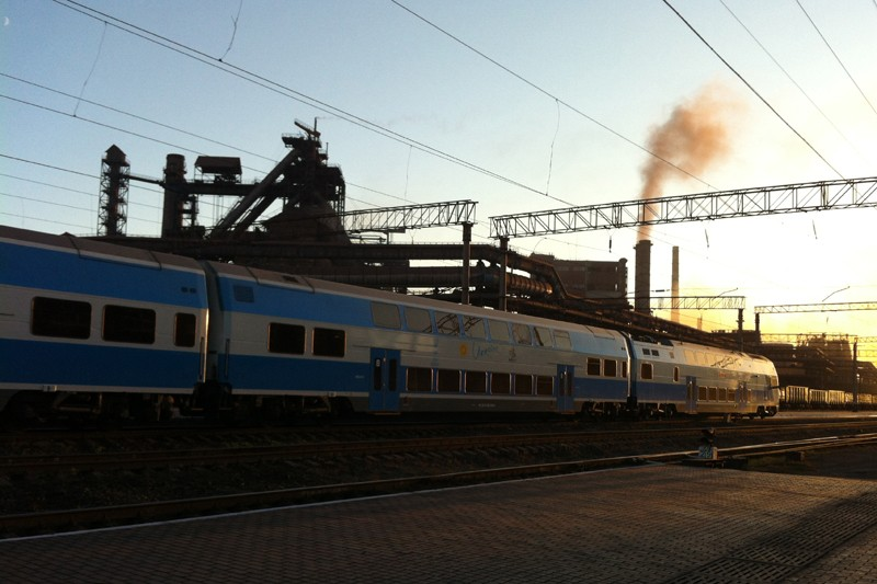 станция Коммунарск. Электричка Луганск-Донецк
