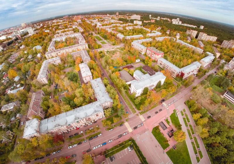 1.Вид города от стадиона «Метеор». Фото Сергея Гвоздева, 2017