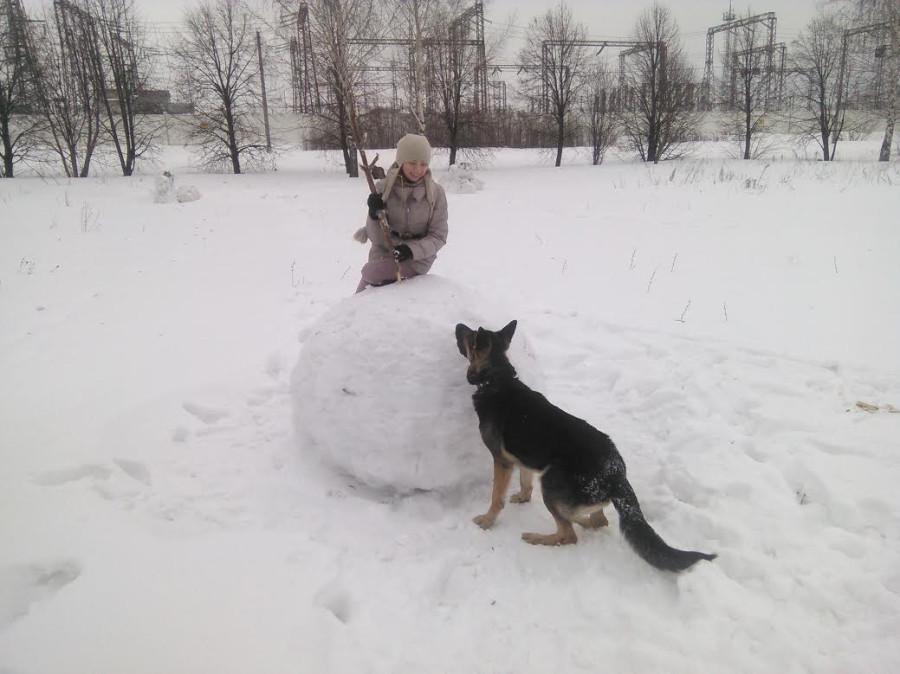 Алена с собакой