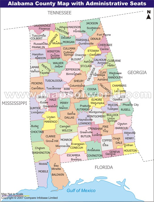 Map of alabama includes city towns and counties united reference solar power in alabama and tennessee useful information syzygy cities map of alabama sciox Images