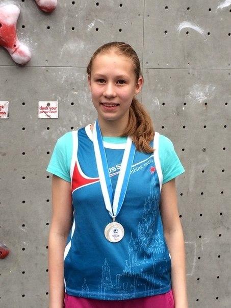 Чемпионат Европы по скалолазанию 2014_Иванова Лиза_2 место