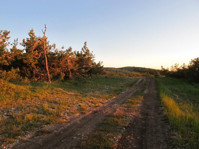 Продолжаем путь. Цвет солнечных лучей предвещает скорый закат.