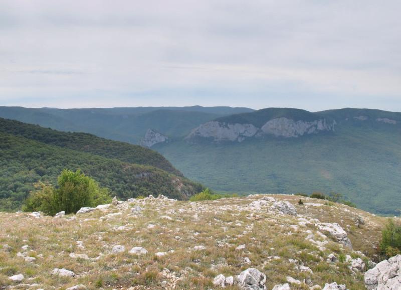 Вид в сторону Ай-Петринской яйлы и скал Седам-Кая.
