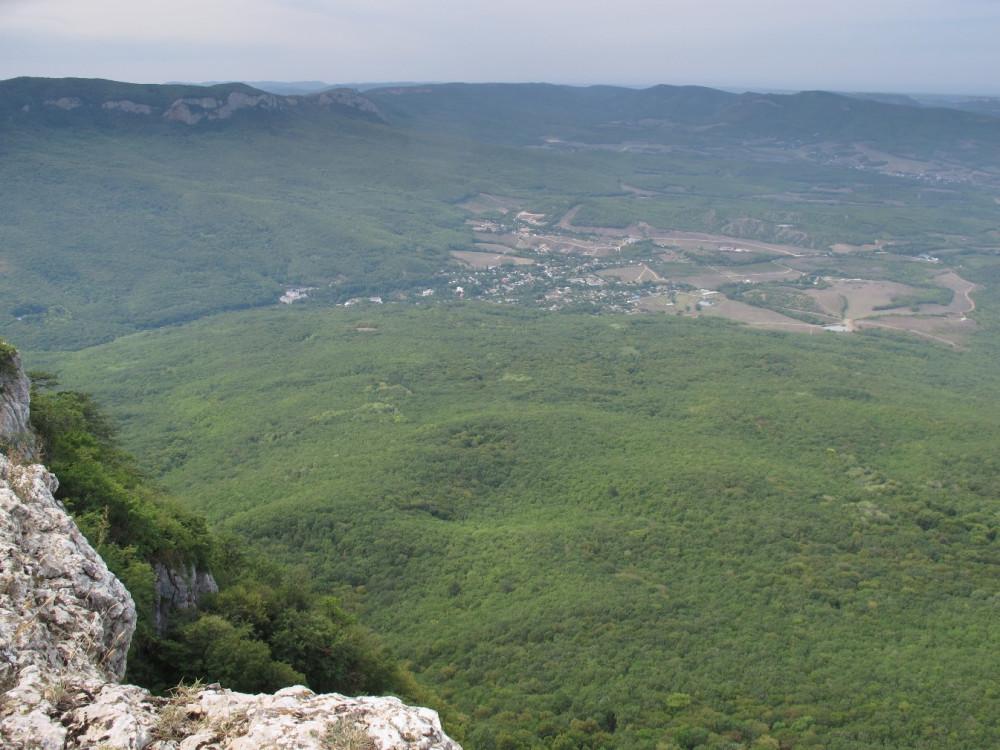 Вид на столицу горного Крыма - Соколиное.