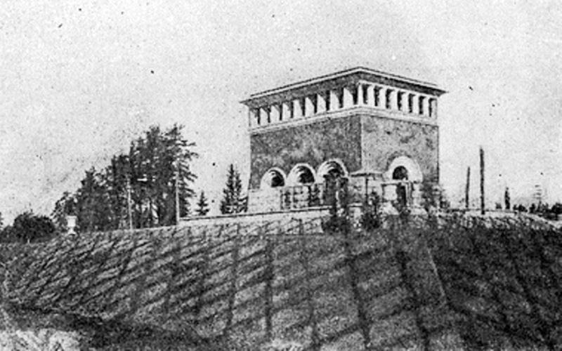 488816 Башня переключателя Акуловского водоканала на железнодорожном переезде (1)