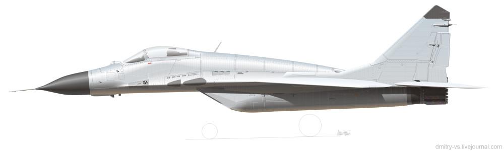 рисунок МиГ-29 изделие 9-13