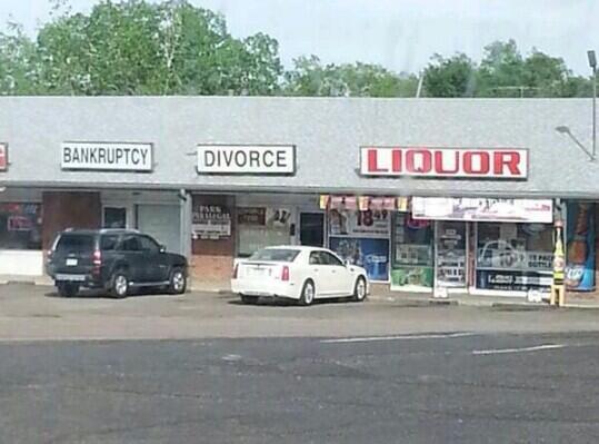 Bankruptcy-Divorce-Liquor
