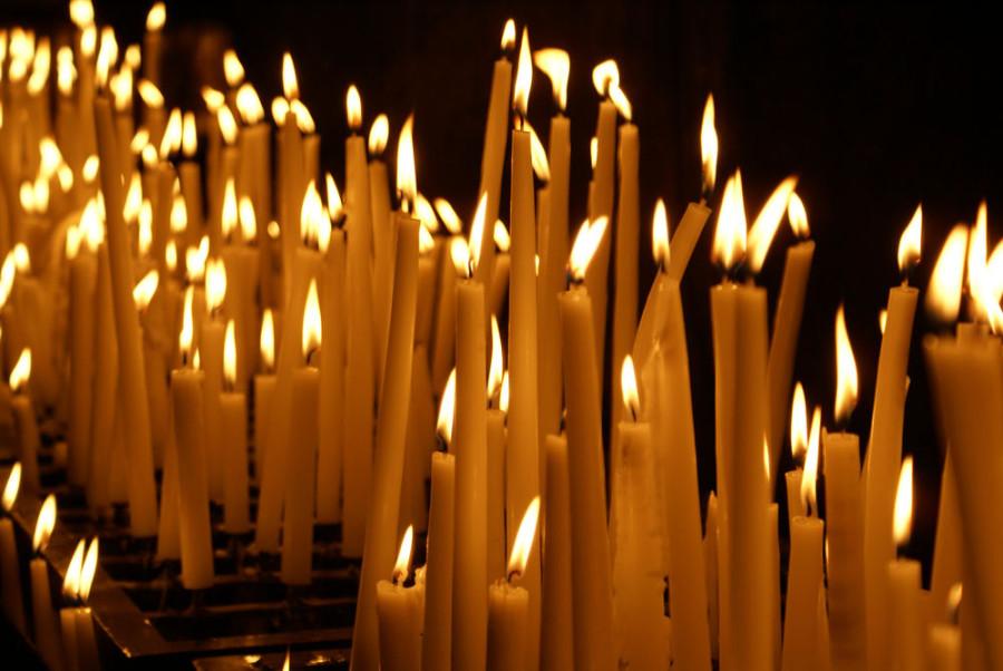 Открытка для, картинки свечи поминальные