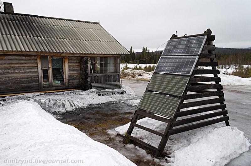 солнечная батарея в тайге