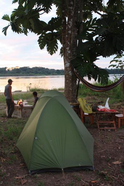 Лагерь на Амазонке