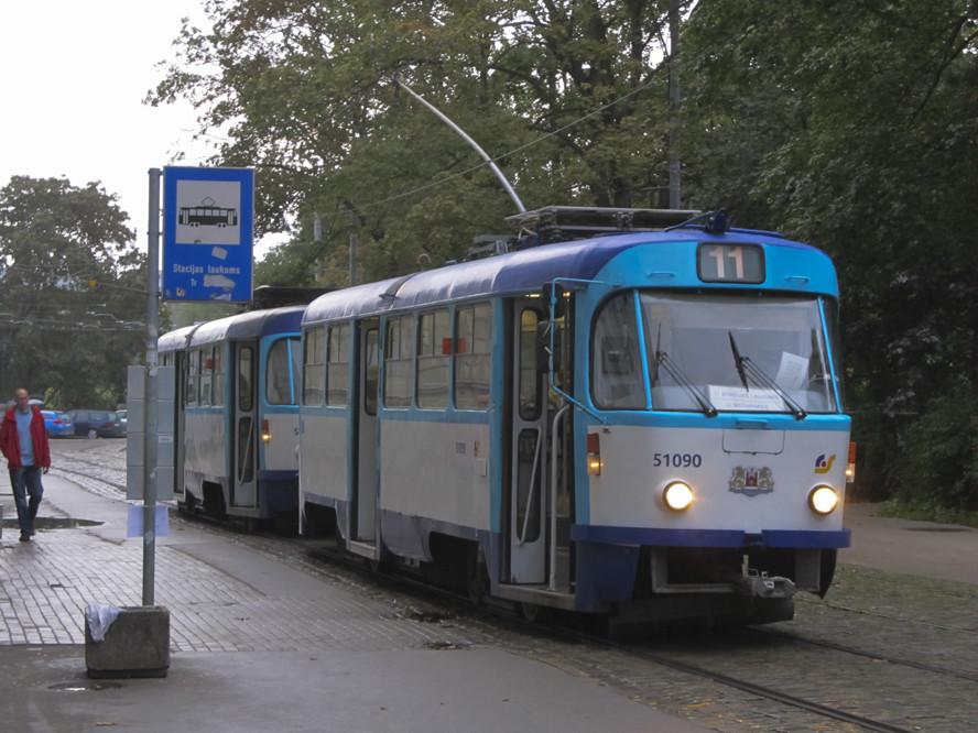 Трамвай в Ризі