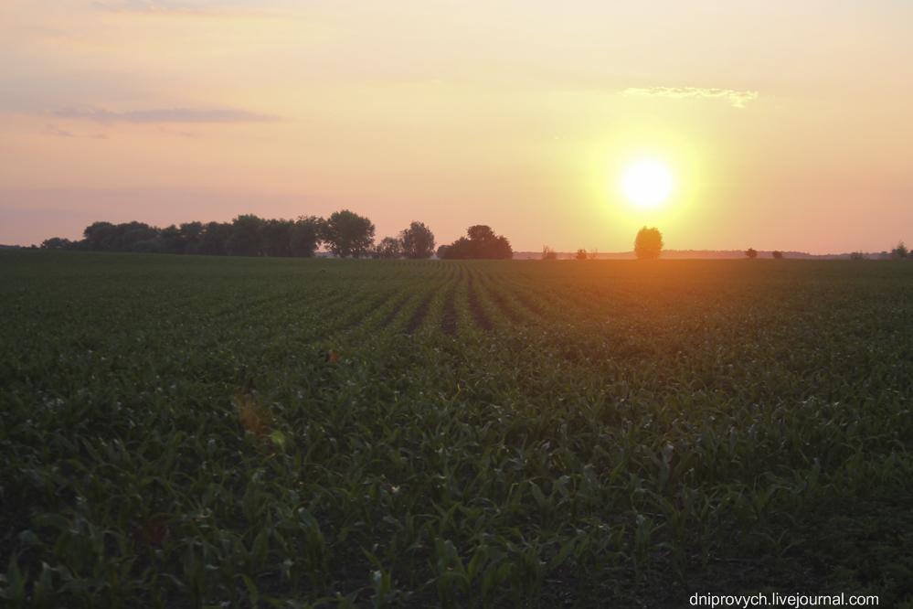 Захід Сонця біля ПЗР