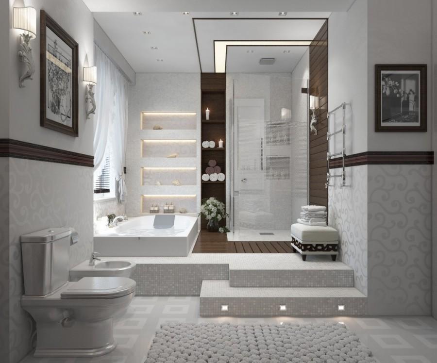 Contemporary-bathroom-in-white