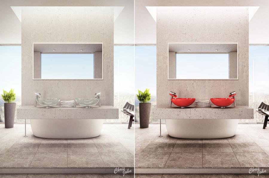 Modern-bathroom-with-stone