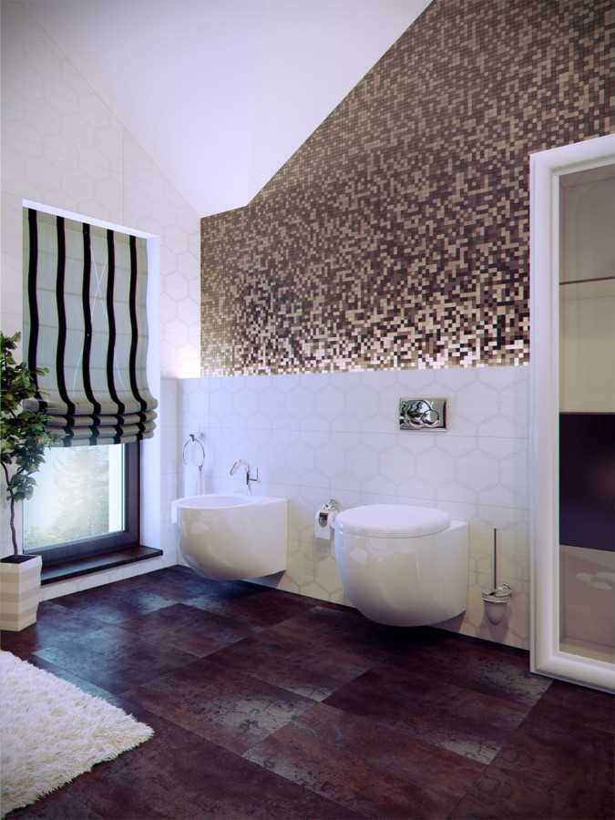 Modern-bathroom-with-tile