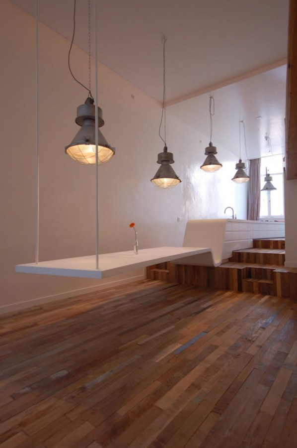 Interesting-Kitchen-Design-By-CUBE-Architecten-Dining-Table