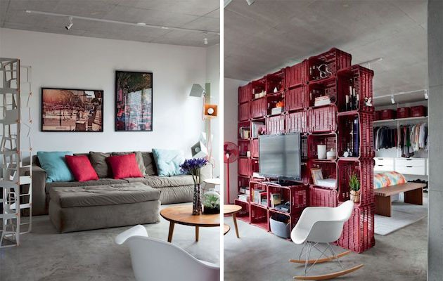 Small-Studio-Apartment-Divided-with-Plastic-Crates-1