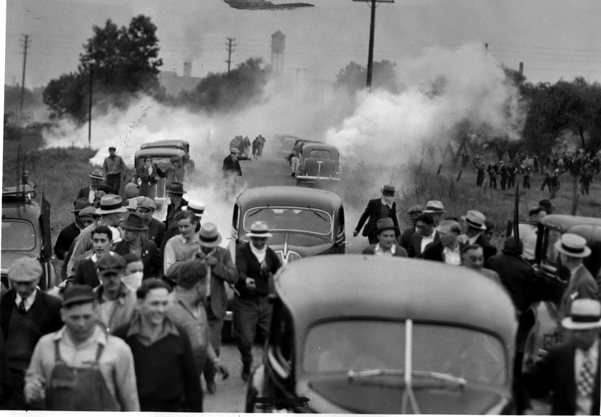 tear gas steel strike 1937