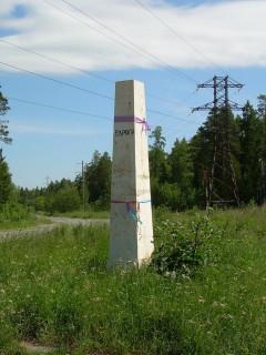 Граница между Европой и Азией: Столб на перевале Бунарский хребет