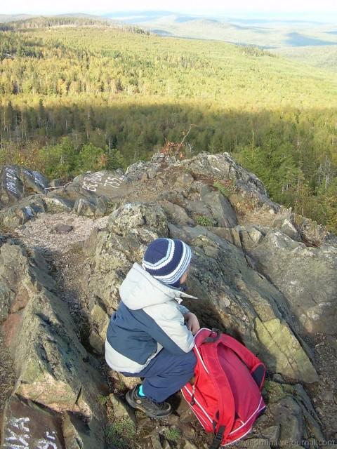 На вершине Старика-камня