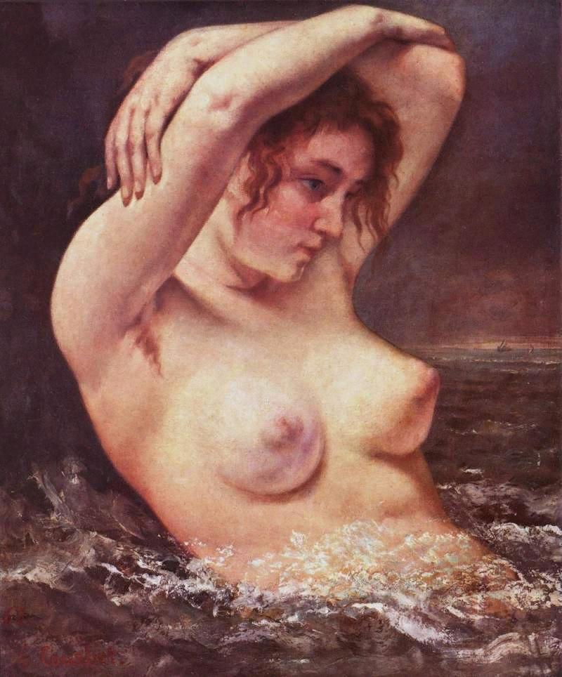 Г.Курбе. Женщина в волнах (купальщица). 1968