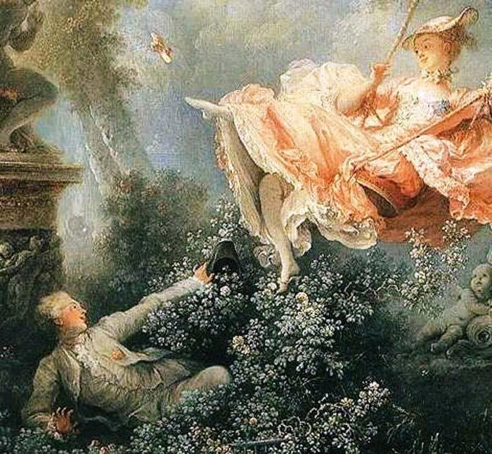 Жан Оноре Фрагонар. Качели.  1767. Фрагмент