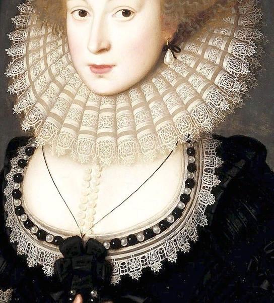 Уильям Ларкин. Портрет Мери Редклиф. 1610-1613. Фрагмент
